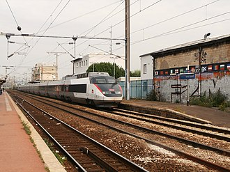 SNCF TGV Sud-Est - TGV Sud-Est on a service to northern France, wearing the new Carmillon livery