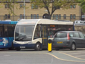 TLC Travel - A TLC Travel Optare Solo SR at Huddersfield bus station in April 2017
