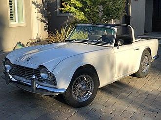 """Triumph TR4 - 1964 TR4 with """"Surrey Top"""" backlight"""