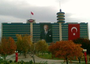 Turkish Radio and Television Corporation - TRT's headquarters in Ankara.