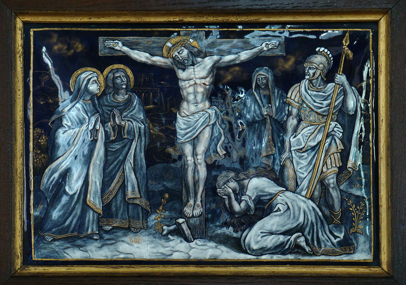 File:TWELFTH STATION Jesus dies on the Cross.jpg