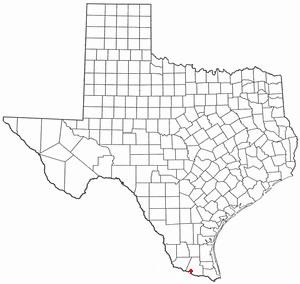Palmview, Texas - Image: TX Map doton Palmview