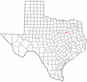 Rice, Texas - Image: TX Map doton Rice TX