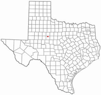 Sweetwater, Texas - Image: TX Map doton Sweetwater