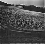 Taku Glacier, tidewater glacier terminus and braided stream in the foreground, August 31, 1977 (GLACIERS 6232).jpg