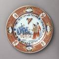 Tallrik i imarifärgerna, 1770-1775 - Hallwylska museet - 107689.tif
