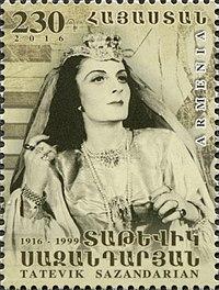 Tatevik Sazandarian 2016 stamp of Armenia.jpg