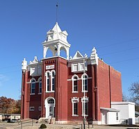 Tecumseh, Nebraska city hall from SW.JPG