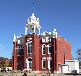 Amerika (miniseries) - The city hall and downtown area of Tecumseh, Nebraska, served as the fictional Milford, Nebraska.