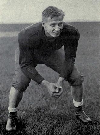 Ted Petoskey - Petoskey from 1933 Michiganensian