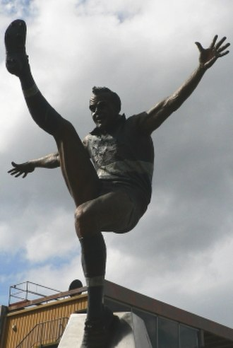 Whitten Oval - E.J Whitten statue which stands outside of the Whitten Oval