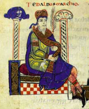 Tedald of Canossa - Tedald as depicted in the early 12th-century Vita Mathildis