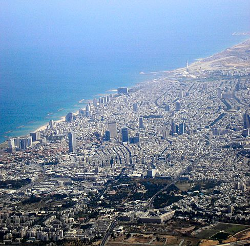 Tel Aviv By Deror avi (Own work) [Attribution], via Wikimedia Commons