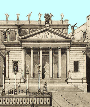 Temple of Concord - Artist's rendering of the Temple of Concord (1892).