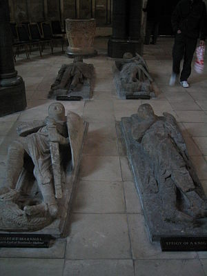Knights Templar in England - Marble effigies of medieval knights in the Temple Church.