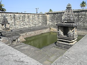 Temple tank - A temple tank at Chennakesava Temple in Belur, Karnataka