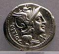 Tesoretto di bevagna, denario di lucio sempronio pizio, 172-151 ac.jpg