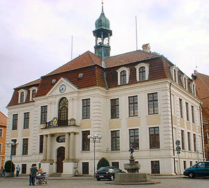Teterow - Neo-Baroque town hall of Teterow (1910)