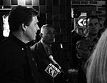 Texas Governor Rick Perry's Campaign Stop at Skeeter's Mesquite Grill, Kingwood, Texas 103110164801BW (5141011325).jpg