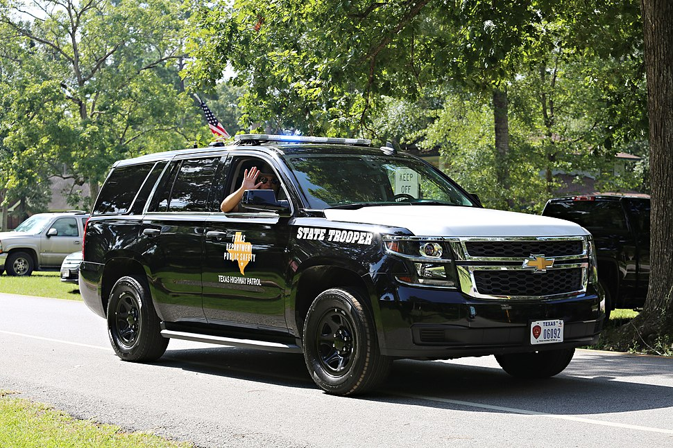 Texas Highway Patrol participating in Roman Forest Independence Day Parade 2016