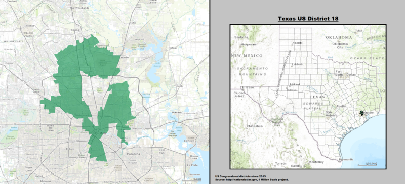 Texas US Congressional District 18 (since 2013)