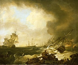 Richard Wright (painter) - The Battle of Quiberon Bay, 21 November 1759: the Day After