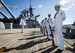 The 69th anniversary of the end of World War II aboard the Battleship Missouri Memorial 140902-N-WF272-109.jpg