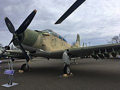 "The A-1E ""Skyraider"" on display at the Aerospace Museum of California.jpg"