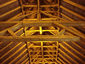 Cressing Temple - Roof structure of the Barley Barn
