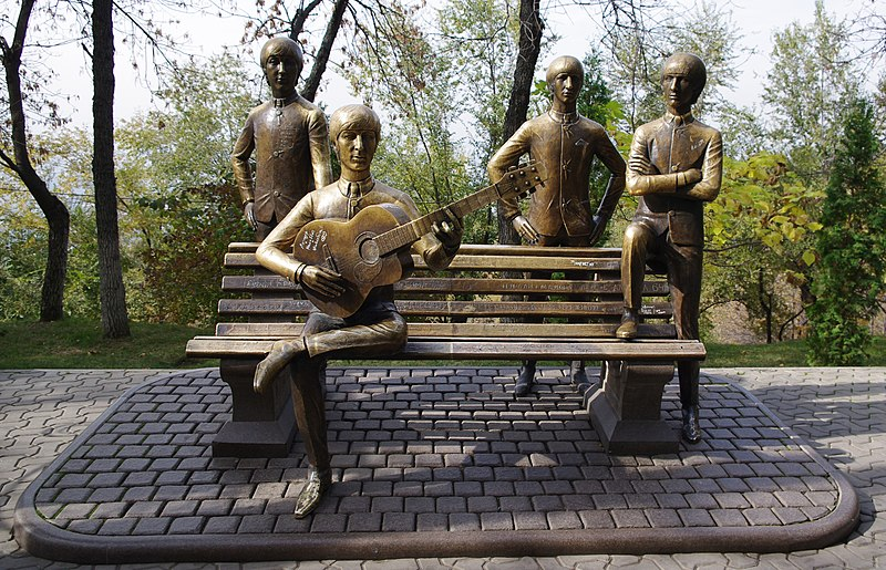 File:The Beatles on Green Hill in Almaty, Kazakhstan.jpg