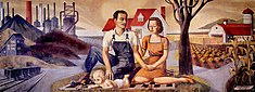 The Family Industry and Agriculture, WPA by Harry Sternberg, 1939.jpg