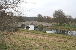 Nene Park, Peterborough - Milton Ferry Bridge (1716), in the parish of Castor.