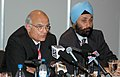 The Foreign Secretary, Shri Shivshankar Menon briefing the Press on the sidelines of G-8 Summit at Berlin in Germany on June 07, 2007.jpg