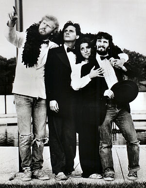 "Julia Louis-Dreyfus - Louis-Dreyfus as a part of The Practical Theatre Company's ""Golden 50th Anniversary Jubilee"", alongside cast mates Brad Hall, Gary Kroeger and Paul Barrosse"