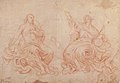 The Holy Trinity (recto); Studies of Seated Female Figures (the Virgin and another Saint?) (verso) MET 62.129.1 RECTO.jpg