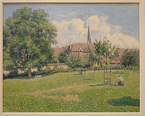 The House of the Deaf Woman and the Belfry at Eragny, Pissarro - Indianapolis Museum of Art - DSC00657.JPG