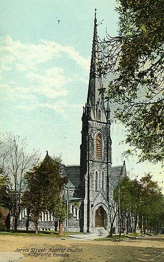 Jarvis Street Baptist Church - Postcard showing the church circa 1917.