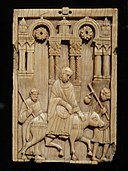 The Journey to Bethlehem, about 110-1120 AD, South Italian, Amalfi, ivory - Cleveland Museum of Art - DSC08614