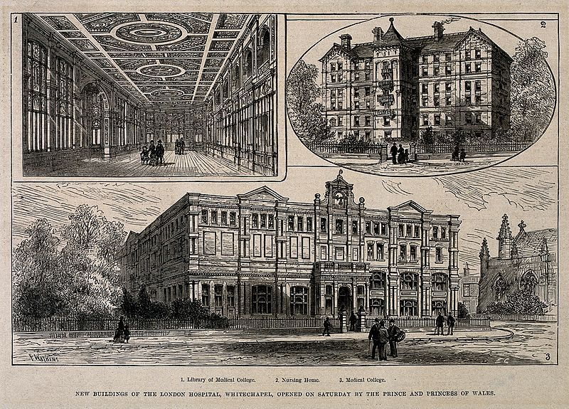 File:The London Hospital, Whitechapel; the medical college and nu Wellcome V0013772.jpg
