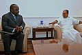 The Minister Incharge of Foreign Affairs and International Cooperation of Democratic Republic of Congo, Mr. Antipas Mbusa Nyamwisi called on the Defence Minister, Shri A. K. Antony, in New Delhi on March 12, 2008.jpg