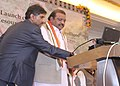 "The Minister of State for Tribal Affairs, Shri Jaswantsinh Sumanbhai Bhabhor unveiling the NRC website and e-knowledge platform on Tribal livelihood ""Vanjeevan"", at Bhubaneswar, Odisha on December 22, 2016.jpg"