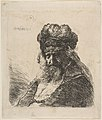 The Old Bearded Man in a High Fur Cap, with Eyes Closed MET DP814525.jpg
