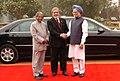 The President, Dr. A.P.J. Abdul Kalam and the Prime Minister, Dr Manmohan Singh at the ceremonial reception of the President of Brazil, Mr. Luiz Inacio Lula da Silva at Rashtrapati Bhavan in New Delhi on June 04, 2007 (1).jpg