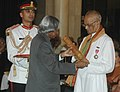 The President, Dr. A.P.J. Abdul Kalam presenting Padma Bhushan to Father Gabriel Chiramel CMI, at an Investiture Ceremony at Rashtrapati Bhavan in New Delhi on March 23, 2007.jpg
