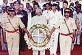 The President, Dr. A.P. J. Abdul Kalam paid homage to the victims of bomb blasts in Mumbai local trains at Mahim Station in Mumbai on July 18, 2006.jpg