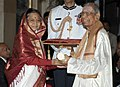 The President, Smt. Pratibha Devisingh Patil presenting the Padma Bhushan Award to Shri M.S. Gopalakrishnan, at an Investiture Ceremony-II, at Rashtrapati Bhavan, in New Delhi on April 04, 2012.jpg