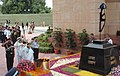 The President, Smt. Pratibha Patil with the Chiefs of Defence forces saluting to martyrs at the Amar Jawan Jyoti at India Gate on the occasion of 61st Independence Day in New Delhi on August 15, 2007.jpg