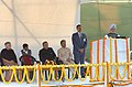 The Prime Minister, Dr. Manmohan Singh addressing after unveiling the plaque of the statue of Shri Lal Bahadur Shastri, in New Delhi on November 25, 2006.jpg