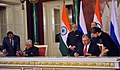 The Prime Minister, Shri Narendra Modi and the President of Russian Federation, Mr. Vladimir Putin witnessing the signing of agreements, at Moscow, in Russia on December 24, 2015 (2).jpg