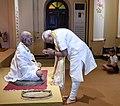 The Prime Minister, Shri Narendra Modi visiting the Mahatma Gandhi Museum, in Rajkot, Gujarat on September 30, 2018 (1).JPG